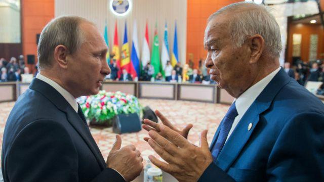 Орусия президенти Владимир Путин менен өзбек президенти Каримов
