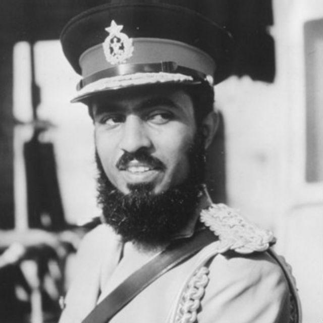 سلطان قابوس در زمان به قدرت رسیدن در سال ۱۹۷۰