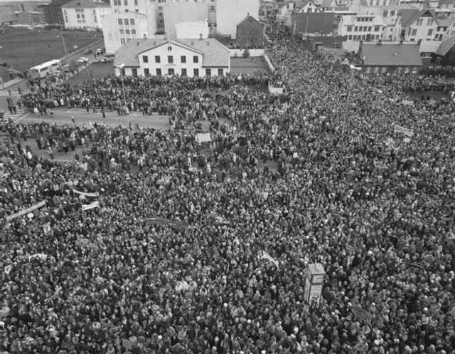 """El """"día libre"""" de la mujer en Islandia, 1975"""