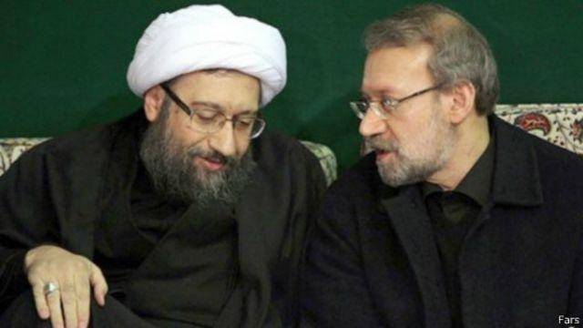 ار راست علی لاریجانی (رئیس مجلس) و صادق لاریجانی (رئیس قوه قضائیه)