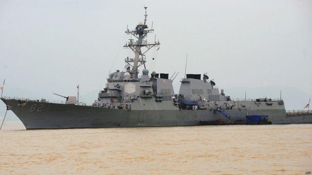 Tàu USS Lassen trong một lần vào thăm cảng Tiên Sa