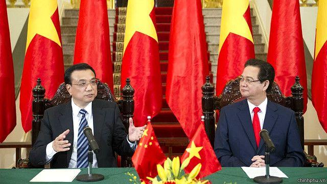 Lãnh đạo Việt - Trung trong một hội đàm