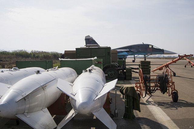 Бомбы на российской авиабазе в Сирии