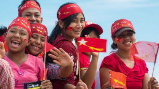 အန်အယ်လ်ဒီကို အားပေးထောက်ခံကြသူတွေ။