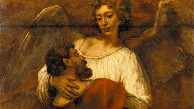 Rembrandt, Jacob lucha con el ángel