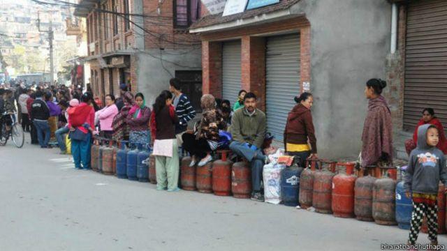 नेपाल, ईंधन की क़िल्लत