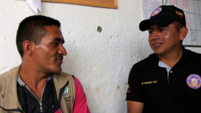 Héctor Pérez y el sargento Sosa