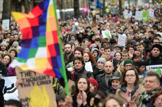 En Londres se movilizaron unos 40.000 ciudadanos.