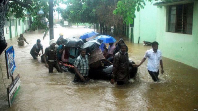 Banjir di Chennai, India