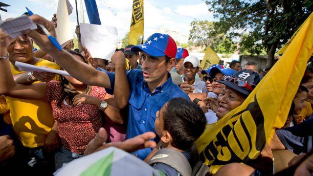 Capriles ha participado de numerosas protestas contra el gobierno de Maduro.