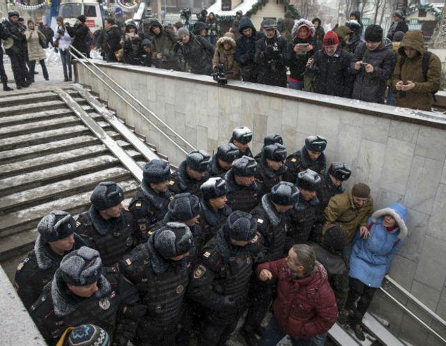 Задержания на Пушкинской площади