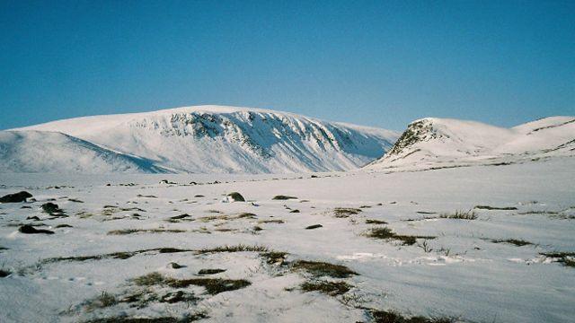 Montaña Halti, en la frontera entre Noruega y Finlandia