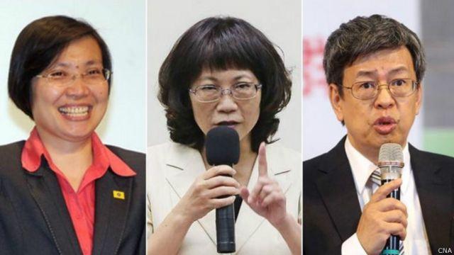 台灣大選副總統候選人電視辯論(中央社檔案照片)