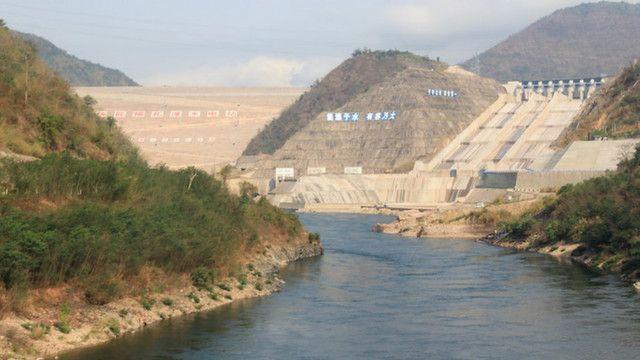 Đập do Trung Quốc xây dựng trên thượng nguồn sông Mekong