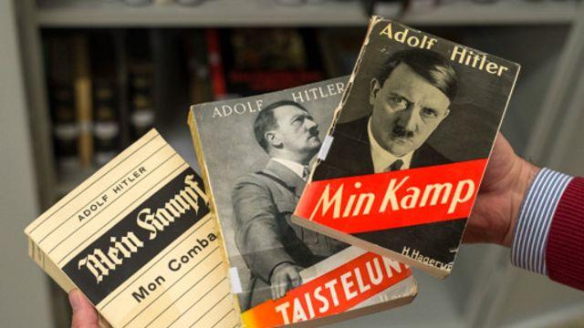 در زمان حکومت نازیها میلیونها نسخه از نبرد من به زبانهای مختلف چاپ و توزیع شد
