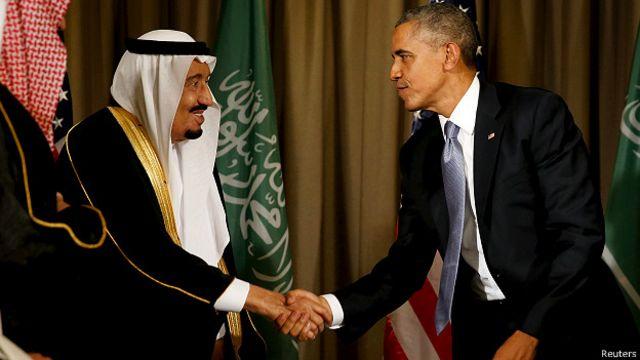 Rei Salman e Barack Obama: EUA e Arábia Saudita possuem relações estreitas