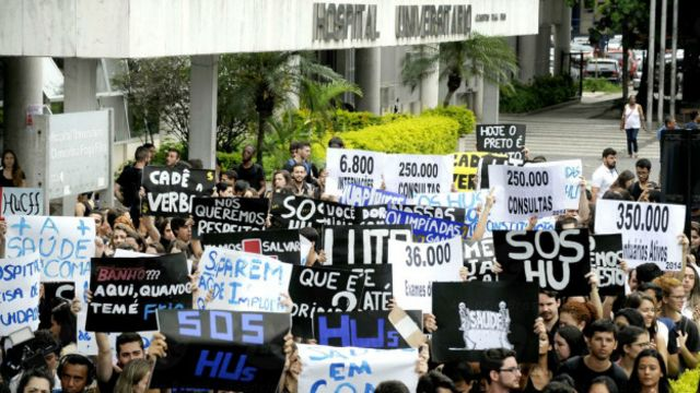 Protesto Hospital Clementino Fraga Filho   EBC