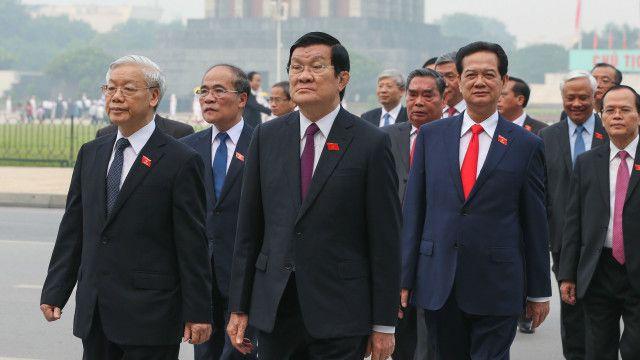 Dàn lãnh đạo khóa 11 của Đảng CSVN
