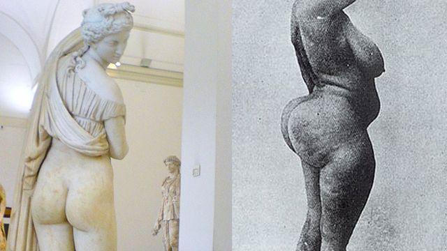 "A Venus de nádegas ""belas"" e as curvas de uma mulher 'esteatopígica'"