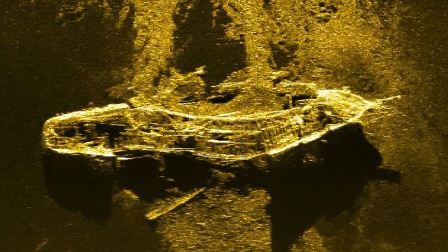 Teknologi pemindaian bisa mendeteksi logam tapi kadang tak bisa membedakan antara besi dan emas dari kapal karam.