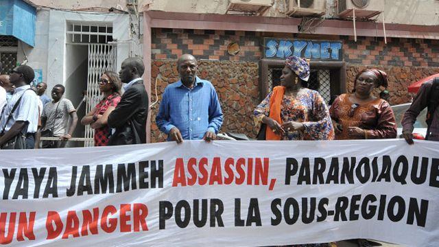 Manifestantes en Senegal