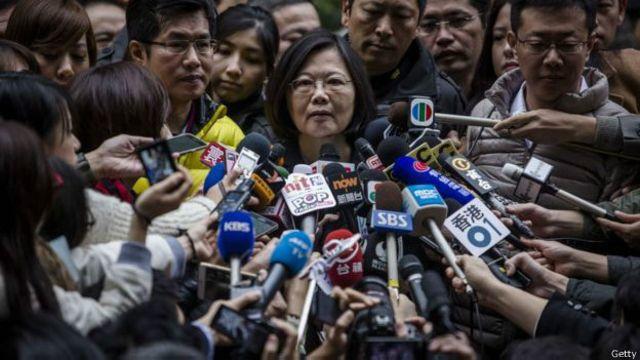 """Bà Thái Anh Văn không thừa nhận chính sách """"một Trung Quốc"""" của Bắc Kinh và chủ trương Đài Loan độc lập"""