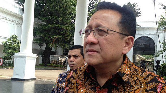 Ketua DPD Irman Gusman saat datang ke Istana Negara dalam rangka rapat bersama soal terorisme, Januari 2016 lalu.