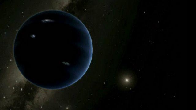 تصویر ساختگی از سیاره نهمی که به استنباط منجمان در انتظار کشف شدن است