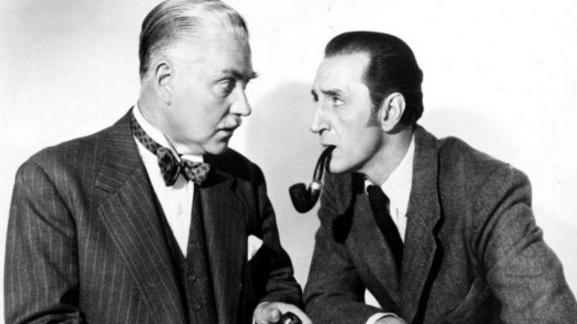 福爾摩斯持續成功的關鍵可能是他對每個時代的適應能力——貝錫·羅斯本(Basil Rathbone)20世紀40年代導演的福爾摩斯電影以當時為背景,電影中福爾摩斯還大戰納粹份子。(圖片來源:AP)