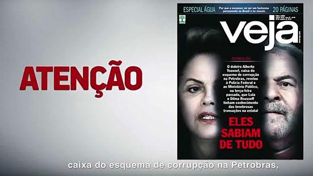 Programa eleitoral de Aécio explorou denúncias de suposto envolvimento de Dilma e Lula em corrupção na Petrobras