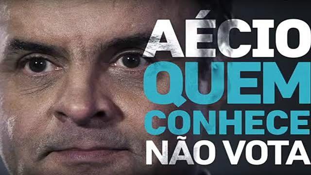 Peça com ataque a Aécio Neves veiculada no programa de Dilma Rousseff na campanha de 2014