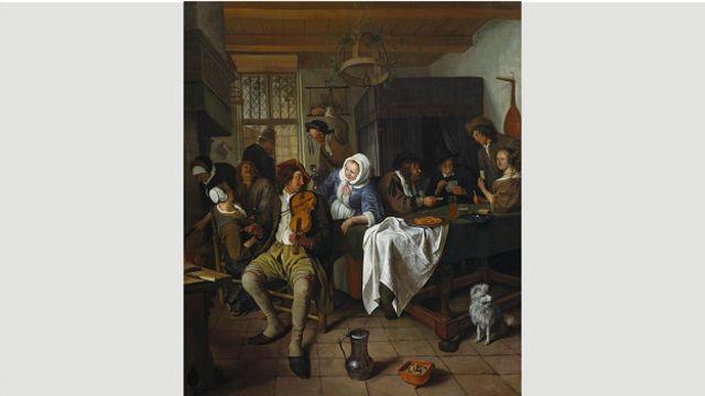 Ян Стен, голландский художник XVII века, специализировался на сценах пьяного веселья в тавернах