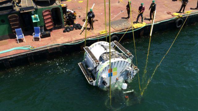 Centro de datos submarino de Microsoft