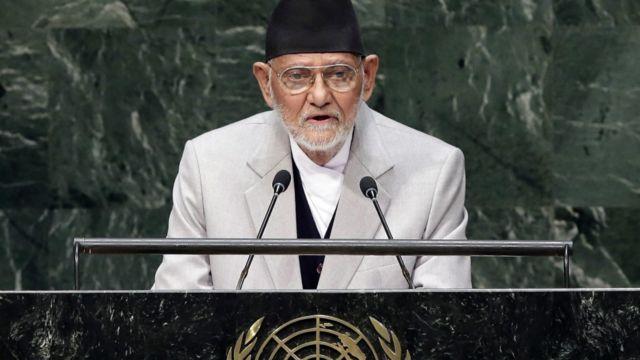 संयुक्त राष्ट्र संघको ६९ औं महासभालाई प्रधानमन्त्रीका रुपमा सुशील कोइरालाले संवोधन गरेका थिए।  फाइल फोटो: इपीए