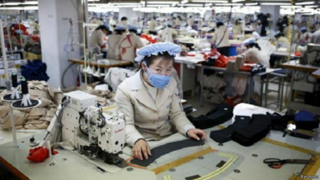 Trabajadora norcoreana