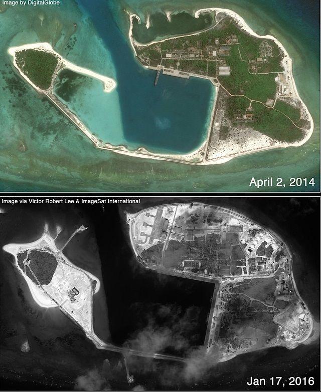 Trung Quốc tích cực xây cất trên đảo Quang Hòa, với căn cứ trực thăng mới