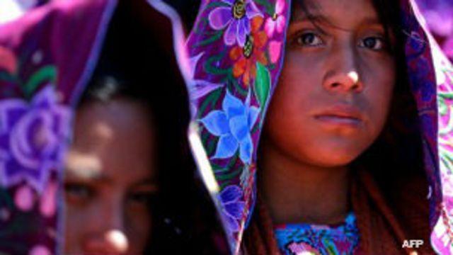 Indígenas en la misa de Francisco en Chiapas