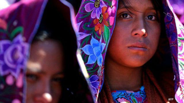Mujeres indígenas en Chiapas