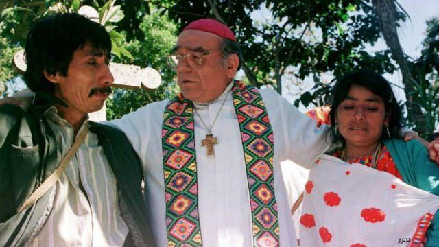 Obispo Samuel Ruiz, de san Cristóbal de las Casas, Chiapas