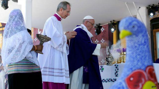 Papa Francisco en Chiapas, México