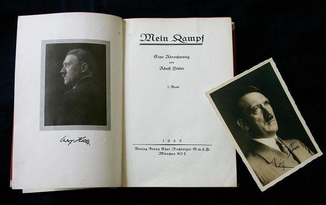 """La autobiografía de Hitler, """"Mi lucha""""."""