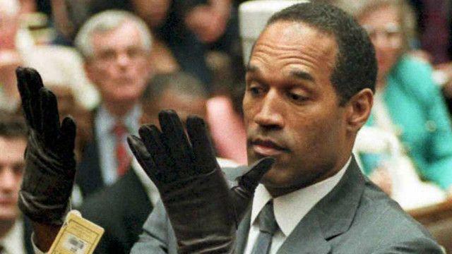 O.J. Simpson durante el juicio criminal en su contra en 1994