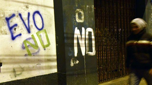 Muro con las palabras Si o No