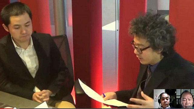 Nhà báo Vincent Ni (trái) cho rằng Trung Quốc sẽ phải tính toán kỹ trước khi tuyên bố vùng ADIZ ở Biển Đông trong năm 2016.