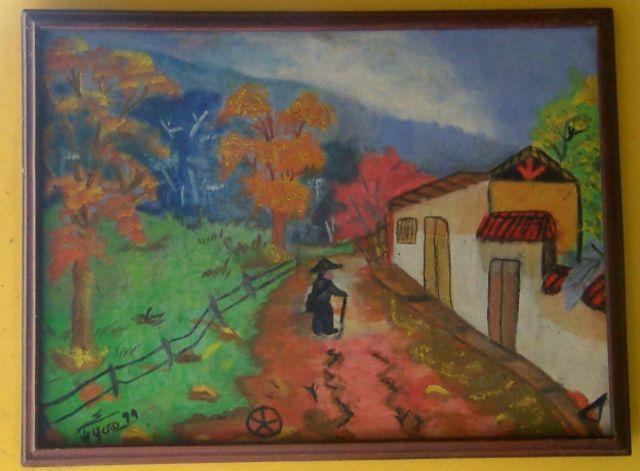 Pintura del hijo de Jaime Peña