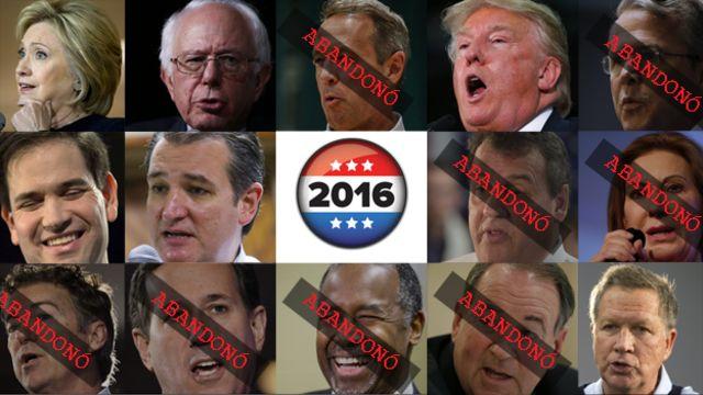 Estos son los aspirantes y los que abandonaron la carrera a la Casa Blanca.