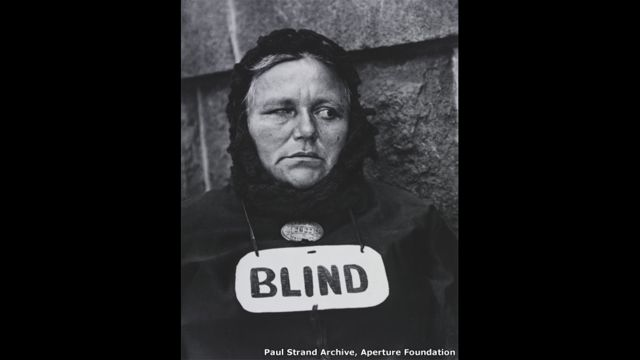 Blind woman, New York - Paul Strand Archive, Aperture Foundation