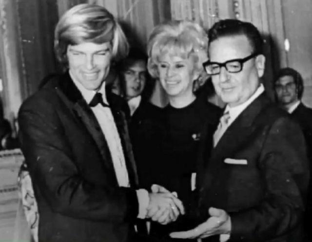 Dean Reed y Salvador Allende