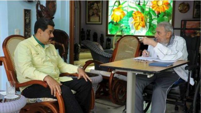 Встречи Фиделя Кастро с Обамой не планируется; вместо этого лидер кубинской революции встретился с президентом Венесуэлы Николасом Мадуро