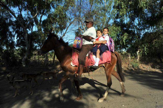 No todas las familias cuentan con un caballo, todo un lujo.